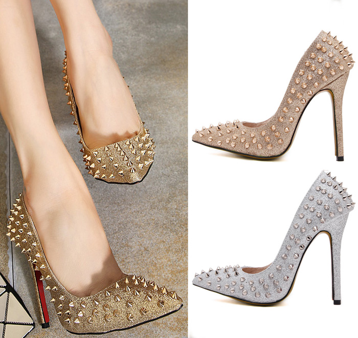 High Quality Studded Spiked Pumps-Buy Cheap Studded Spiked Pumps ...