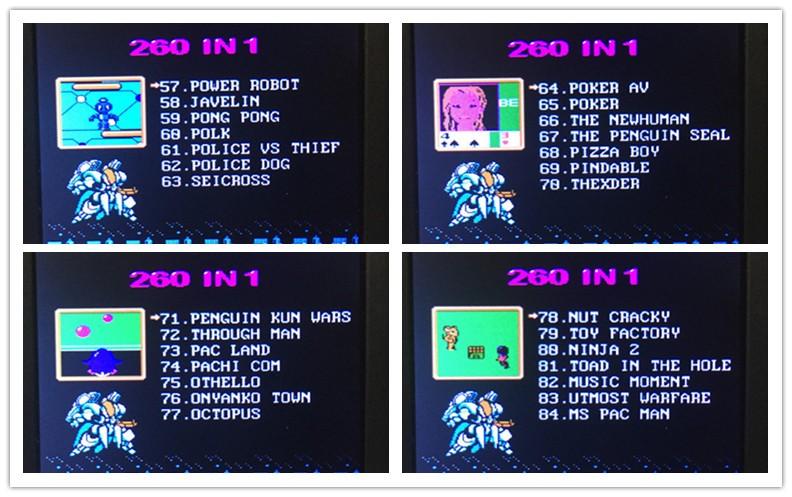 Coolboy SKY blue RS-8A 260 games console Children's handled game 8BIT handheld color tetris