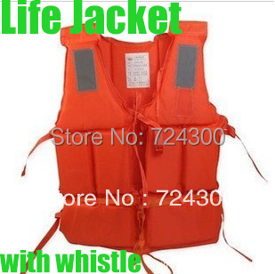 Whoesale Life Jacket Life vest Swimming jackets With Survival Whistle life jackets for adult free shipping
