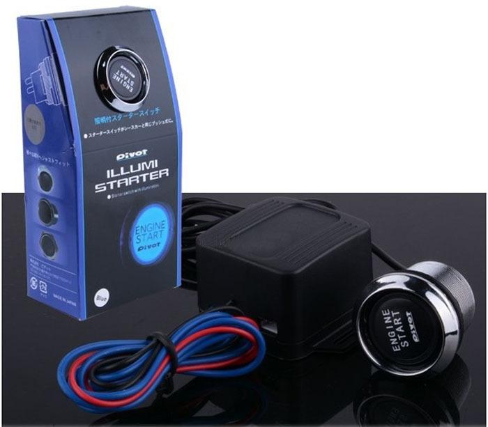 High quality 12V Universal LED Illumination pivot install engine start stop push button switch module With Box free shipping(China (Mainland))
