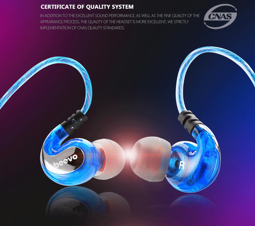 Beevo BV-EM390 Earphones Extra Bass Turbo Wide Sound Field In-ear Earphone fone de ouvido auriculares audifonos DJ MP3