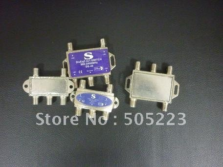 good quality DiSEqC 4 x 1 Switch for satellite receiver free ship by china post 10pcs/lot(China (Mainland))