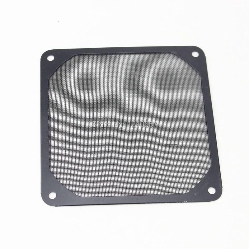 100 Pieces lot Black 120mm PC Computer Case Fan Dustproof Dust Filter Mesh Metal Strainer(China (Mainland))
