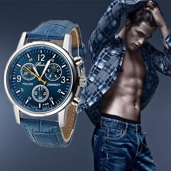 2015 мода кожаный ремешок часы мужчин свободного покроя часы мужчины бизнес наручные часы спорт военная кварцевые часы Relogio Masculino