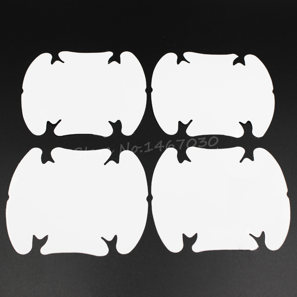 4pcs Invisible Car Automobile Door Wrist Handle Scratches Protective Film Stickers Cup Bowl Cover Waterproof(China (Mainland))