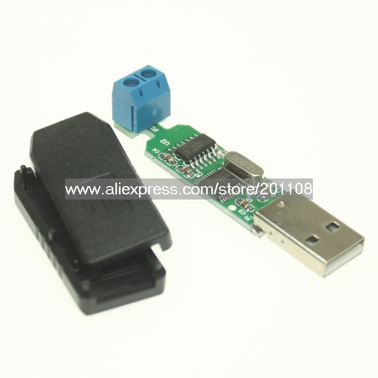 F639A high-performance ch340T chip Support 64-bit Win7 USB to RS485 Converter Adapter USB2.0 interface compatible with USB1.1