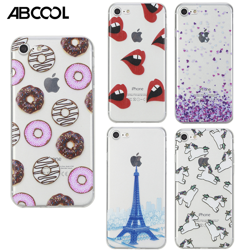 For iPhone 7/7 Plus Case Popular Luxury Unicorn tornado Pineapple donuts soft TPU Phone Case For iPhone 6/6S/6S Plus/5/5S/SE(China (Mainland))