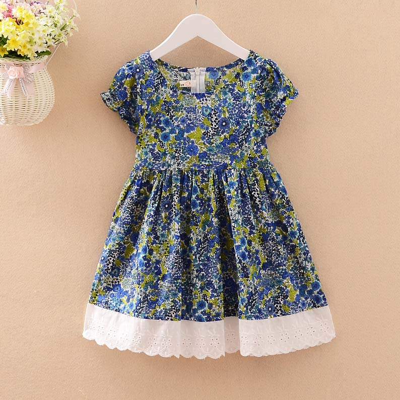 2016 Bohemian Style Summer Lace Cotton Girls Childrens Dresses (6Pcs/lot) Baby /Kids Clothing  {iso-16-2-17-A6}<br><br>Aliexpress