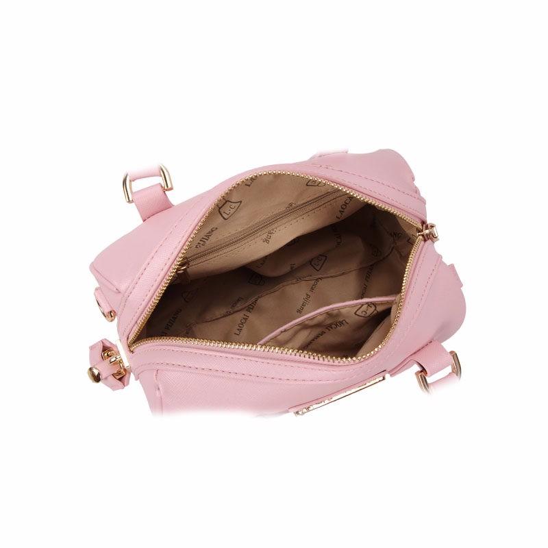 Fashion Boston Bag Trendy Barrel Shaped Women Handbag Stylish Designer PU Leather Crossbody Bag Pink Black White Elegant Bag