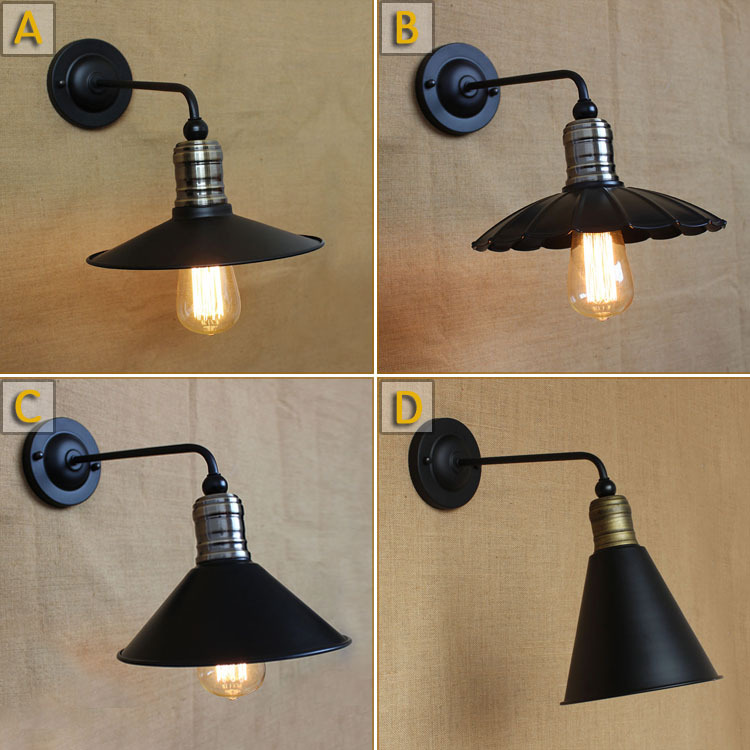 American Pastoral Spain upscale vintage industrial lighting fixture simple European decorative wall lamp hotel bedside aisle<br><br>Aliexpress