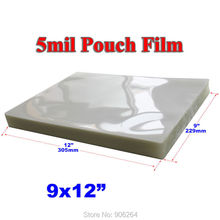 "100 5Mil 9x12"" Letter Size Clear Laminating Pouch Film for Thermal Hot Lamintor(China (Mainland))"