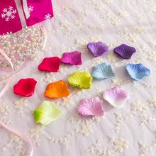 Wholesale 100pcs/Lot Decorative Artificial Silk Flower Pink Rose Petals Wedding Decoration 50 Colors For Choose Wedding Rose(China (Mainland))