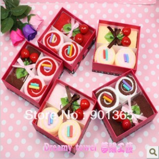 20% Discount Off 100% CottonHot Selling Cake Towel Gift Box As Wedding Gifts & Christmas Xmas Gifts