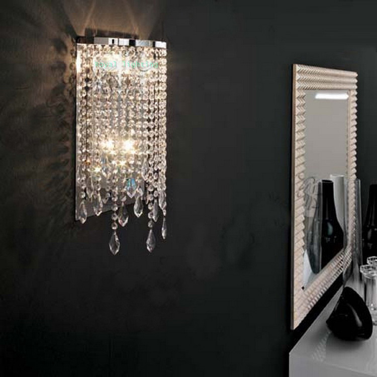 Crystal Wall Sconces Bathroom : Free shipping Bathroom wall lamp 2 lights crystal light Dressing room led Mirror lights abajur ...