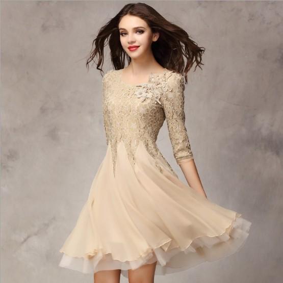 Online Get Cheap Women Knee Length Dresses for A Wedding ...