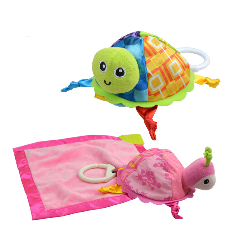 New 2015 Baby Bibs 1 pcs 25cm * 16cm *23cm Multi-function Soothe baby Toys Early Educational Tortoise for Infant Teether B14(China (Mainland))