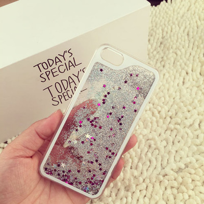 New glitter waterfall case for iPhone 5 5g 5s flow sand liquid cell phone back cover shell for iPhone5 cases(China (Mainland))