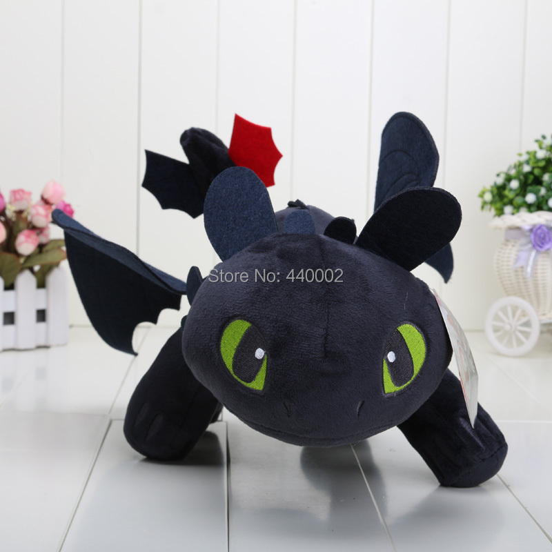 40cm 16'' How to Train Your Dragon 2 Toothless Night Fury Soft Plush Stuffed Doll Toy Christmas Gifts For Kids(China (Mainland))