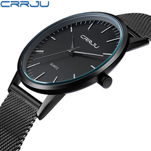 Buy New Fashion Mens Watches Top Brand Luxury CRRJU Men Quartz Watch Mesh Band Stainless Steel Ultra Thin Clock Relogio Masculino for $14.99 in AliExpress store