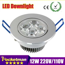 new Led downlight 110V 220V LED Ceiling Downlight 9W 12W 15W Recessed LED Wall lamp Spot light With LED Driver For Home Lighting(China (Mainland))