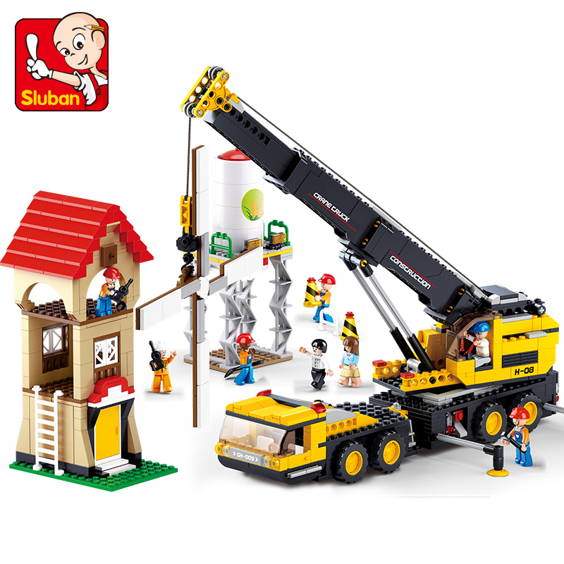 Building block set Compatible Lego Cranes 76new engineering series 3D Construction Brick Educational Hobbies Toys