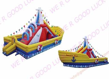 pirate boat,obstacle course, inflatable sports, factory price ,fast delivery, new design,specially