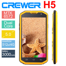 Waterproof Phone lp68 Military SmartPhone CREWER H5 4inch IPS Screen Android 4.4 Dual Core MTK6572A Dual Card Dual Standby Phone