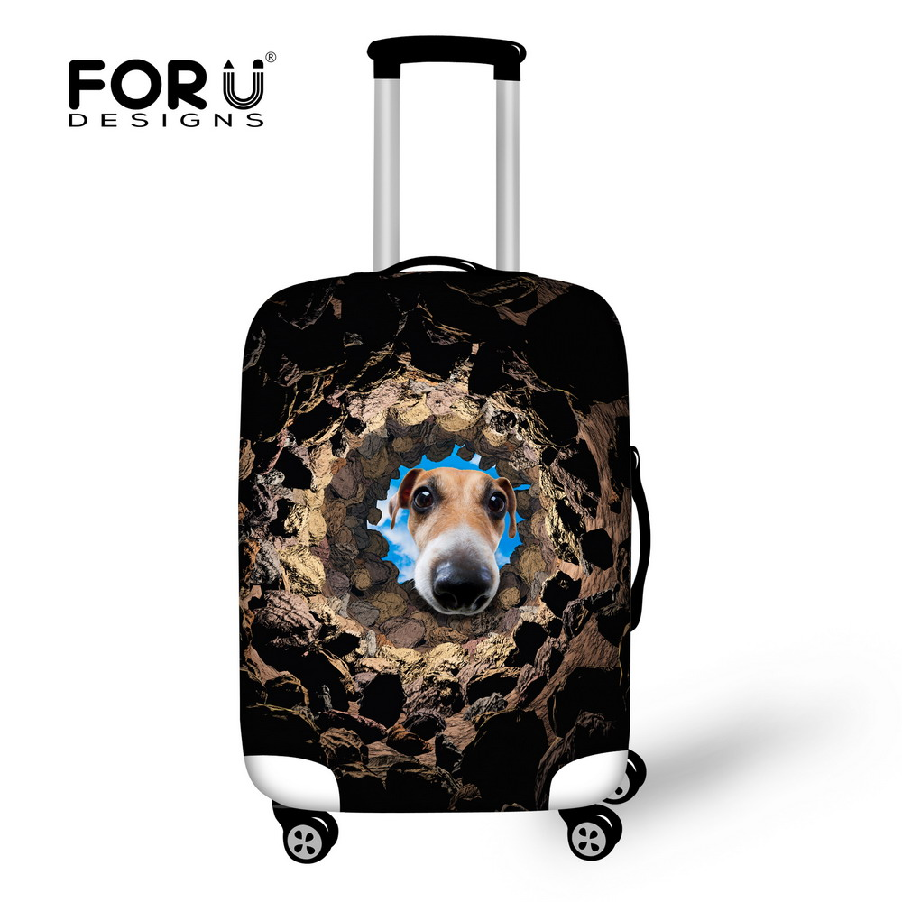 New 3D Animal Dog Printing Travel Luggage Cover,Anti-dust Suitcase Cover to 18-30 inch Trolley Luggage Waterproof Baggage Cover(China (Mainland))