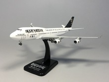 Hogan 1:400 Iron Maiden B747-400 The Book Of Souls World Tour Ed Force One TF-AAK Diecast Airplane model(China (Mainland))