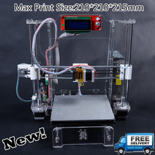 He3D- XI3 High Precision LCD NEW prusa I3 3D Printer kit DIY reprap full acrylic frame