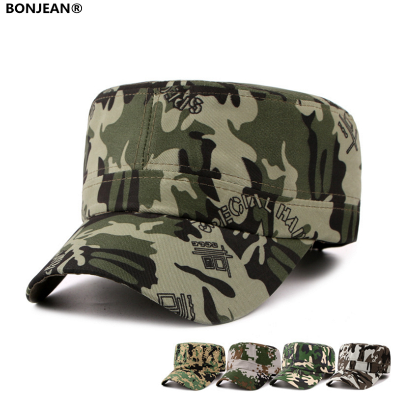 2017 Sport Snapback Caps Golf Hats Vintage Camouflage Baseball Cap for Men and Women Canvas flat top hat Adjustable(China (Mainland))