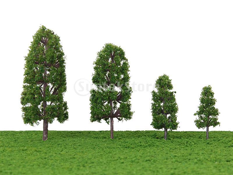 New 2014 Brand New 20pcs 1.77 Inch - 3.94 Inch Scenery Landscape Model Trees -Dark Green Free Shipping(China (Mainland))