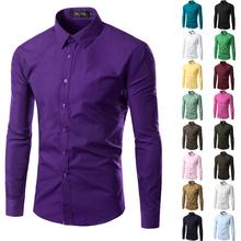 2016 Mens Slim fit Unique Neckline Stylish Dress Long Sleeve Shirts Mens Dress shirts 17colors Available Asian Size M-XXXL 6492(China (Mainland))