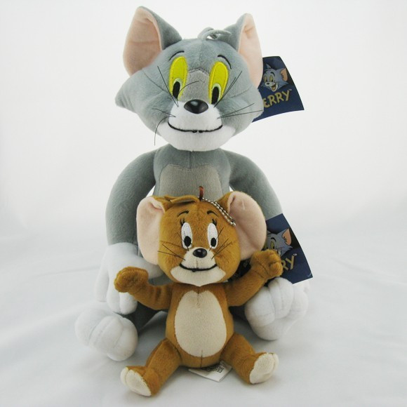 2pcs-lot-Baby-Toys-Cat-Tom-And-Jerry-Mouse-Plush-Stuffed-Toys-soft-Dolls-Boneca-Pelucia (1)