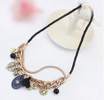 2015 new fashion European jewelry wholesale fashion retro buckle tag necklace woman jewlery