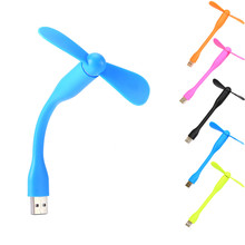 For Laptop Desktop Computer Portable Flexible Fan Colorful USB Mini Cooling Fan Cooler(China (Mainland))