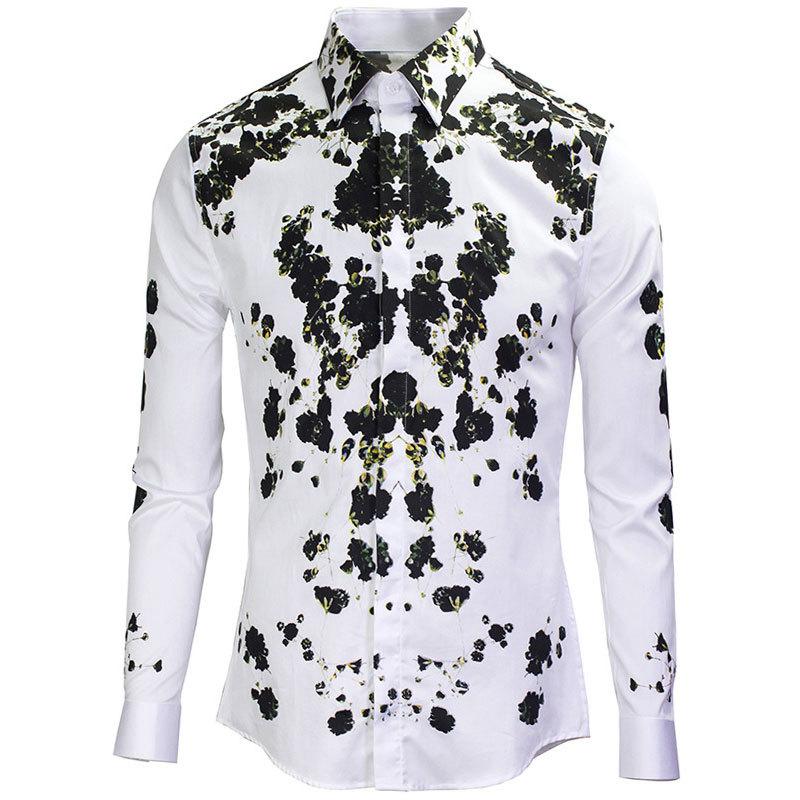 2015 New Arrival Floral Shirt Men Autumn Mens Fashion Design Printed Slim Fit Cotton Dress Shirts Long Sleeve Brand Men ShirtОдежда и ак�е��уары<br><br><br>Aliexpress