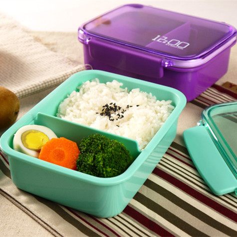 Manufacturers Selling Japanese-Style Bento Box Single Plastic Lunch Box Can Separators Microwave Band(China (Mainland))