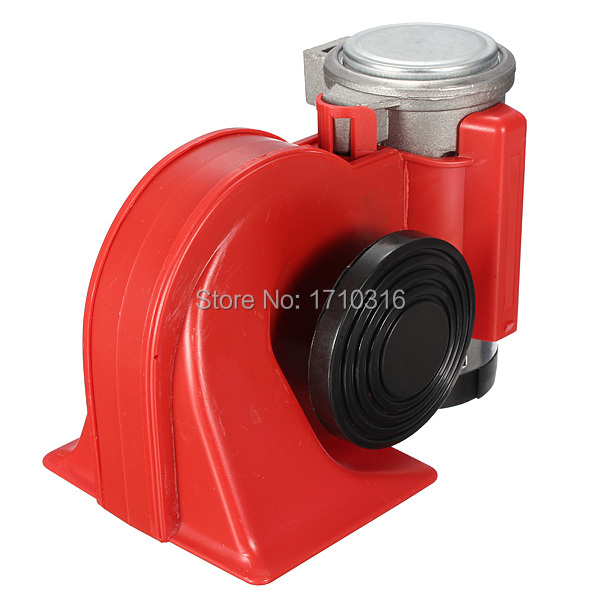 Car Motorcycle Truck 12V Red Compact Dual Tone Electric Pump Air Loud Horn Vehicle Siren Free Shipping(China (Mainland))