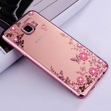 "Buy Samsung A5 2017 Case Secret Garden Flowers Rhinestone Cell Phone Plating Cases Samsung Galaxy A5 2017 A520 A520F 5.2"" for $1.89 in AliExpress store"