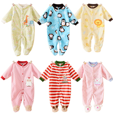 Brand Baby Clothing Autumn Winter Baby Girl Newborn Clothes Polar Fleece Fabric Romper Long Sleeve Baby Product Boy Baby Rompers(China (Mainland))
