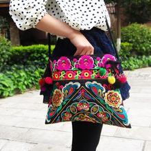 Новый женский холст двухсторонняя вышитые плеча сумку уникальные небольшой площади сумки