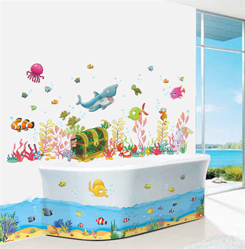 fish well for shower as paints walls bathroom plus metal decor decorations baby