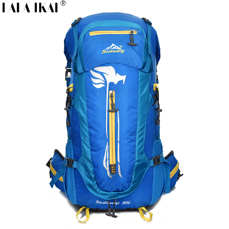 50L Climbing Backpack Waterproof Nylon High Quality Mountain Backpack Brand Outdoor Sport Camping Hiking Rucksack YIN0165-2