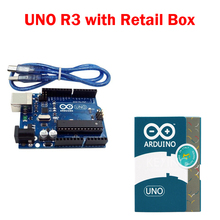 UNO R3 for arduino MEGA328P 100% original ATMEGA16U2 with USB Cable + UNO R3 Official Box Free Shipping(China (Mainland))