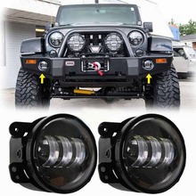 "Buy 2 PCS 4"" LED Fog Lights Headlights 4 inch Round 30W Front Bumper LED Fog Light Assembly Wrangler CJ TJ JK 07-15 for $44.00 in AliExpress store"