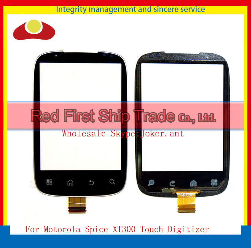 "10Pcs/lot High Quality 3.0"" For Motorola Spice XT300 Touch Screen Digitizer Sensor Front Glass Lens Black +Tracking Code(China (Mainland))"