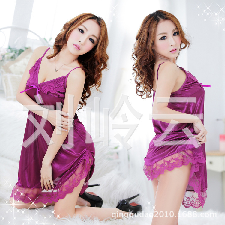 2015 Direct Selling Polyester Lace Solid Plus Size Lingerie New Sexy Lingerie Transparent Nightdress 6213 Temptation(China (Mainland))