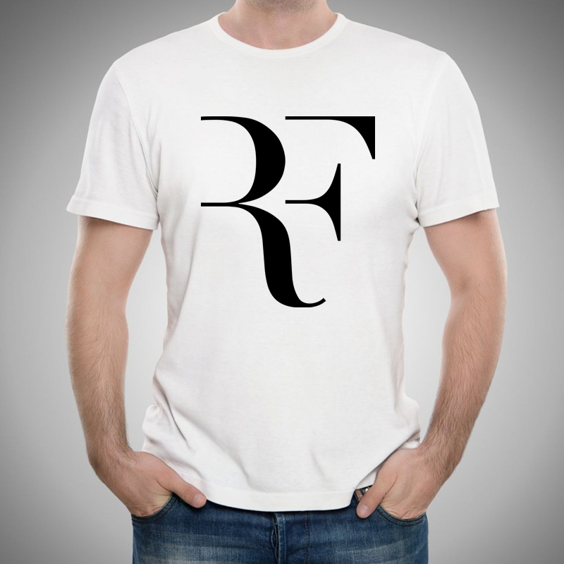 Personalize Roger Federer Tennis Mens t shirt Boys Tees Tops Short Sleeve Printed Cotton Men t-shirt Designer Clothing Cheap(China (Mainland))