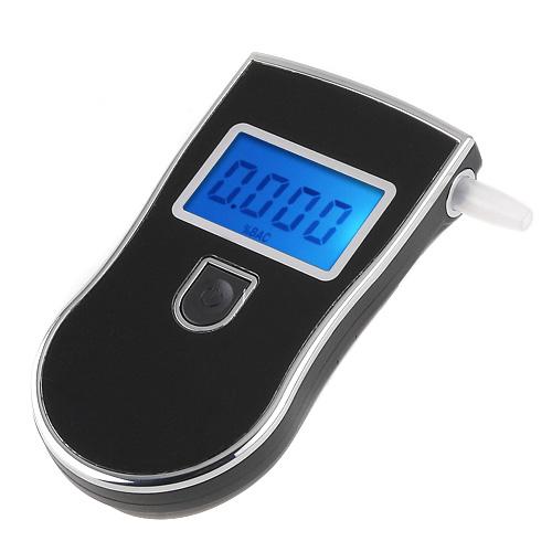 At818 цифровой жк-подсветкой дисплея брелок тестер спирта алкоголя в выдыхаемом воздухе анализатор цифровой алкотестер